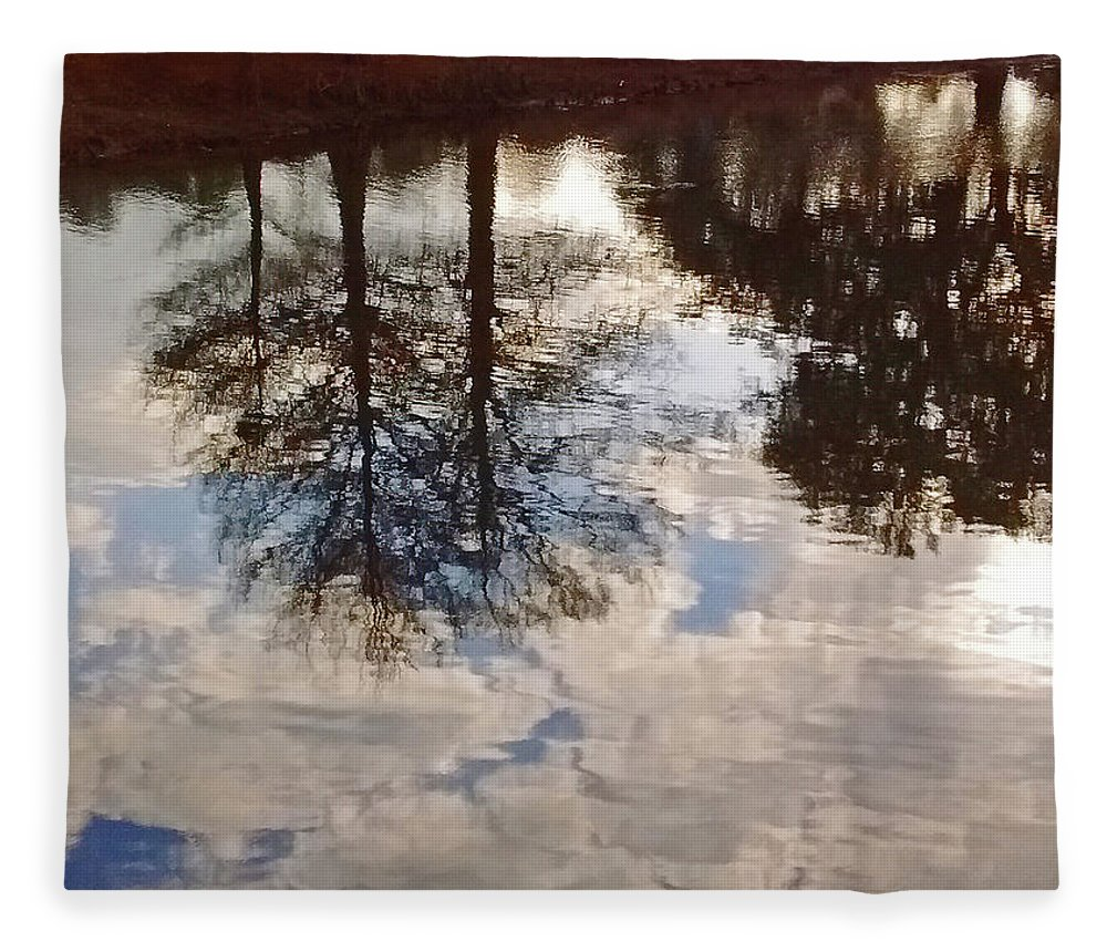 Photography Fleece Blanket featuring the photograph Upside Down - Reflections by Marian Bell