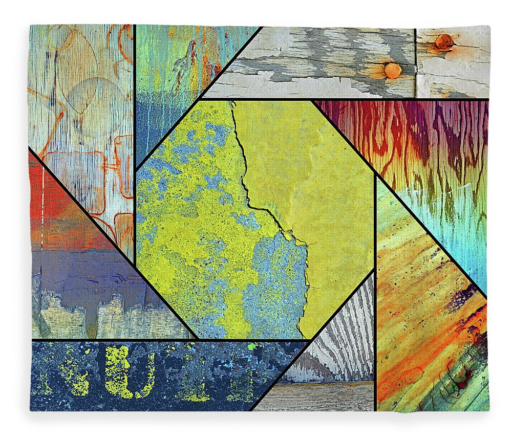 Urban Fleece Blanket featuring the photograph Urban Colours 8 by Tara Turner