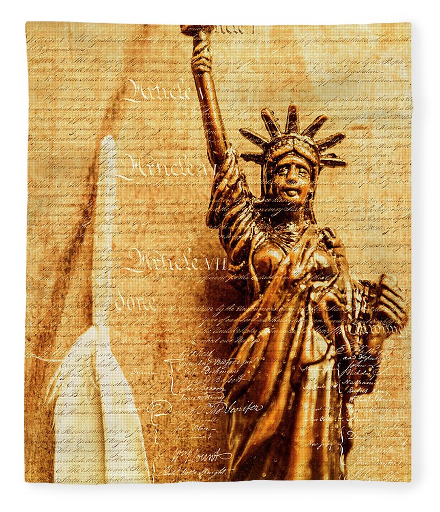 Liberty Fleece Blanket featuring the photograph Us Constitution by Jorgo Photography - Wall Art Gallery
