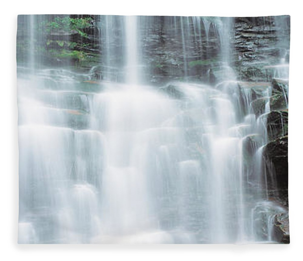Photography Fleece Blanket featuring the photograph Usa, Pennsylvania, Ganoga Falls by Panoramic Images