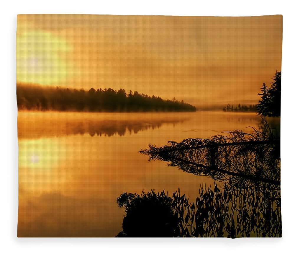 Utowana Fleece Blanket featuring the photograph Utowana by Tony Beaver