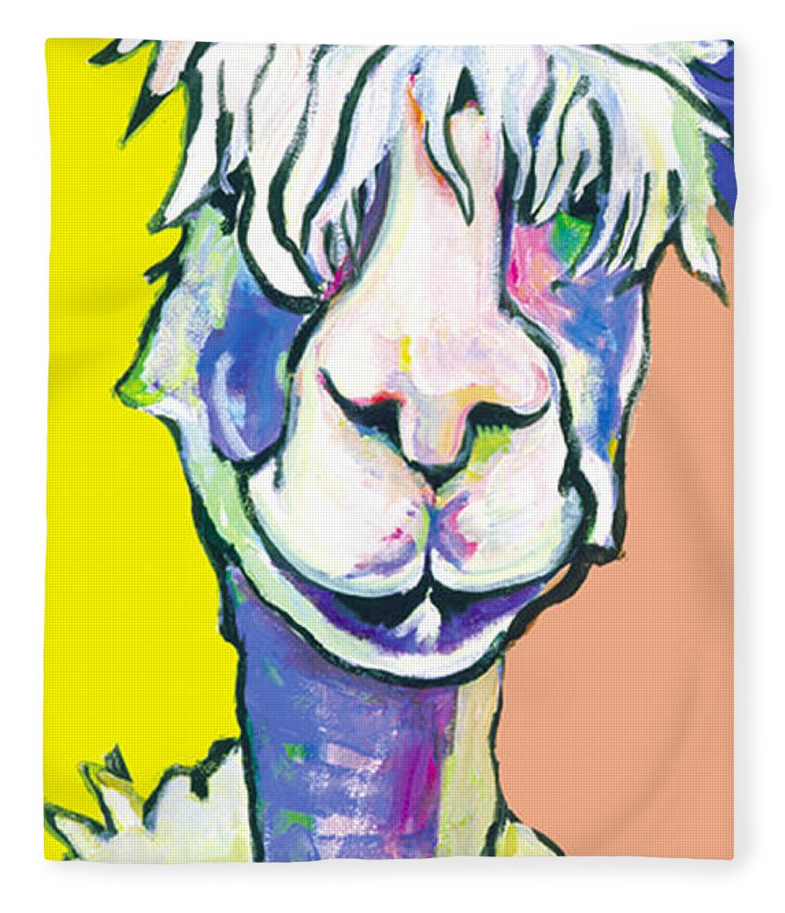 Mountain Animal Fleece Blanket featuring the painting Veronica by Pat Saunders-White