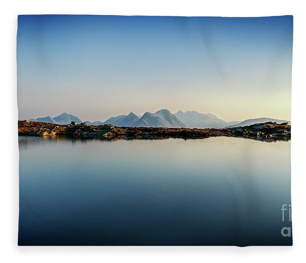 Isle Of Raasay Fleece Blanket featuring the photograph View Across Loch Na Clarlaich To The Isle Of Skye. by Phill Thornton