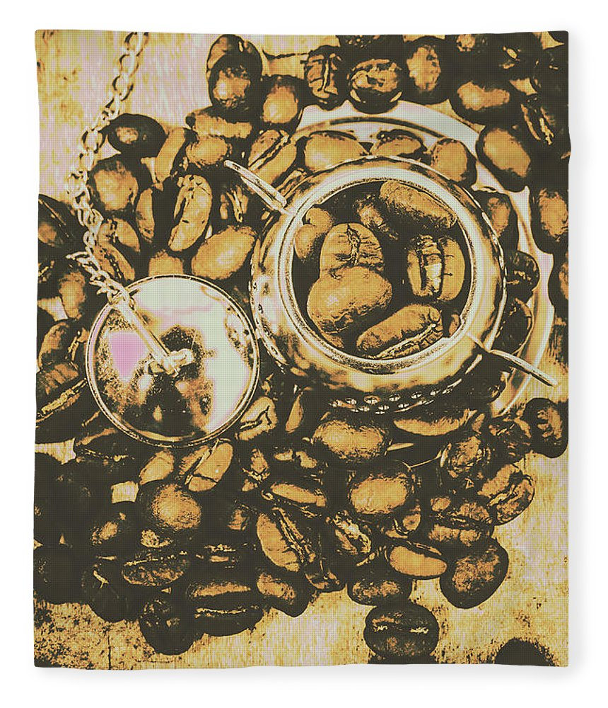 Drinks Fleece Blanket featuring the photograph Vintage Cafe Artwork by Jorgo Photography - Wall Art Gallery