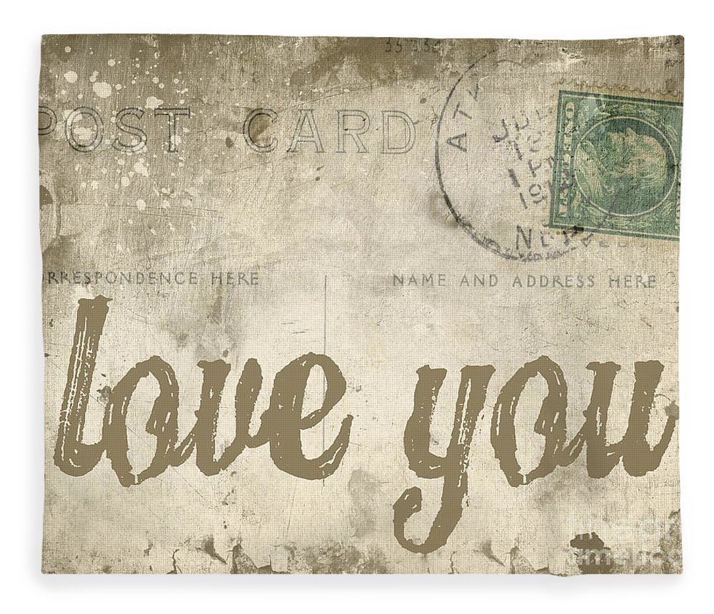 Love Fleece Blanket featuring the photograph Vintage Love Letters by Edward Fielding