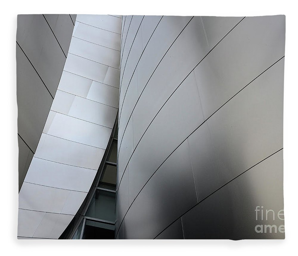 Disney Fleece Blanket featuring the photograph Walt Disney Concert Hall 10 by Bob Christopher