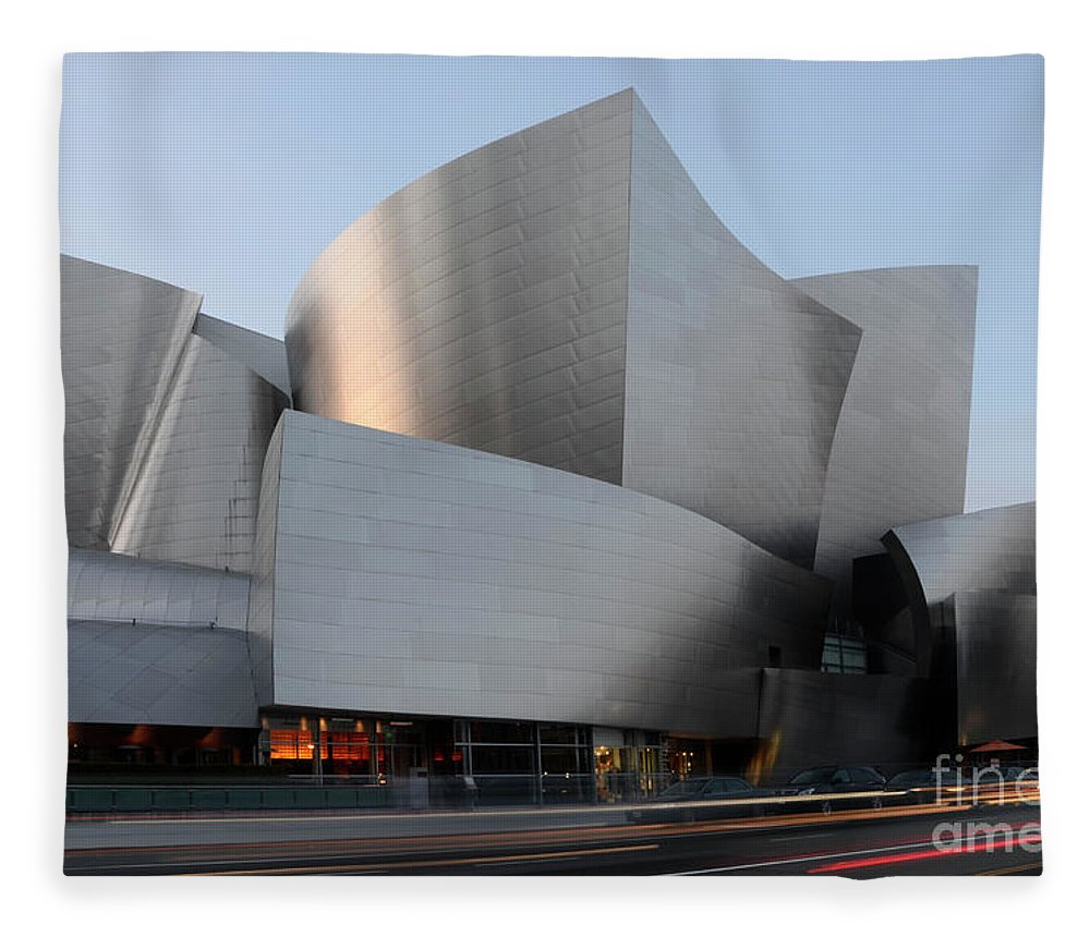 Disney Fleece Blanket featuring the photograph Walt Disney Concert Hall 17 by Bob Christopher