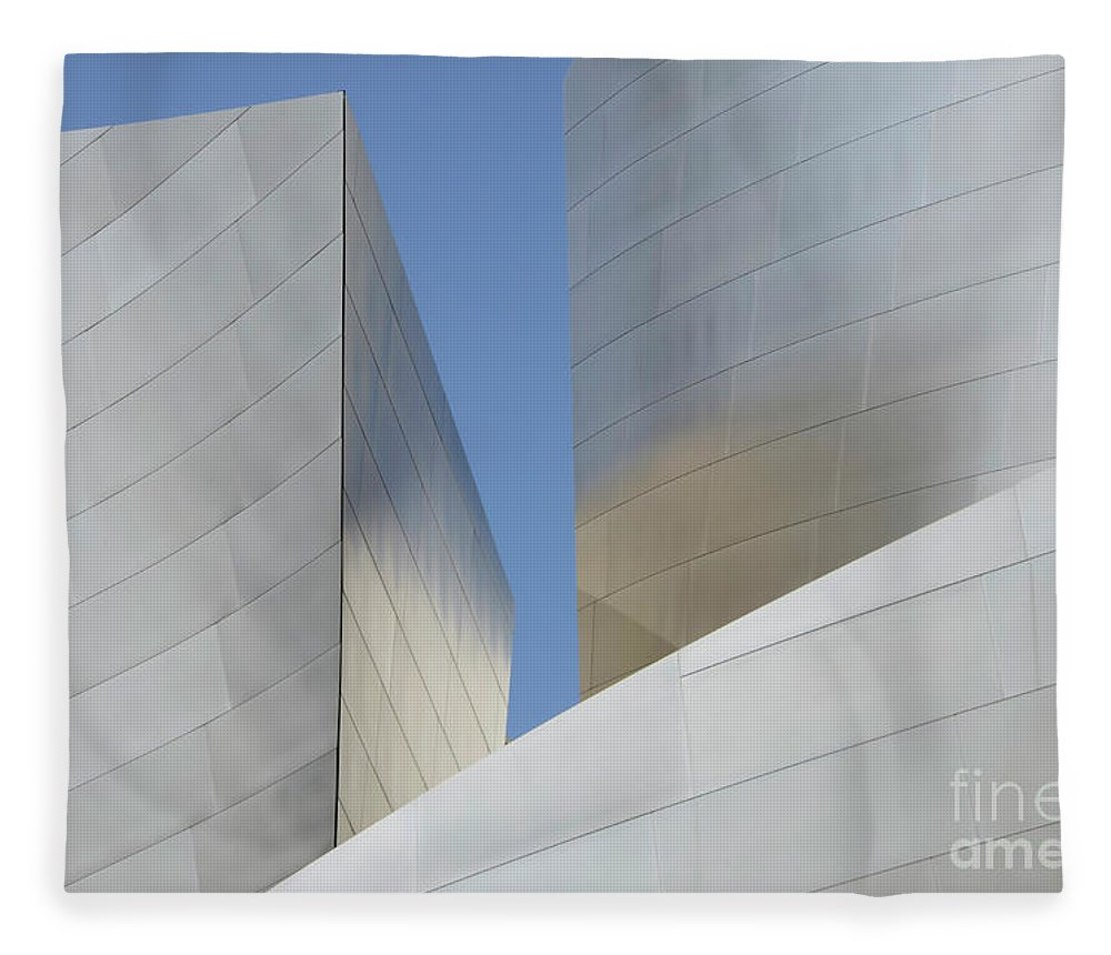 Disney Fleece Blanket featuring the photograph Walt Disney Concert Hall 22 by Bob Christopher