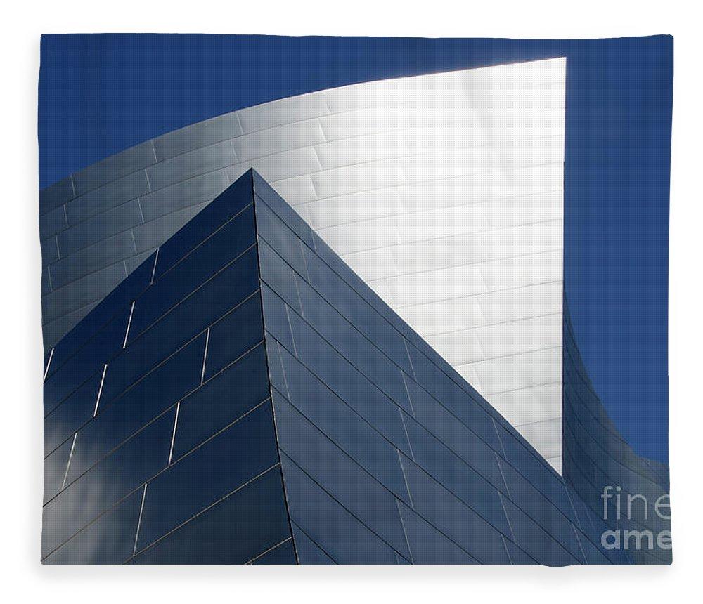 Disney Fleece Blanket featuring the photograph Walt Disney Concert Hall 42 by Bob Christopher