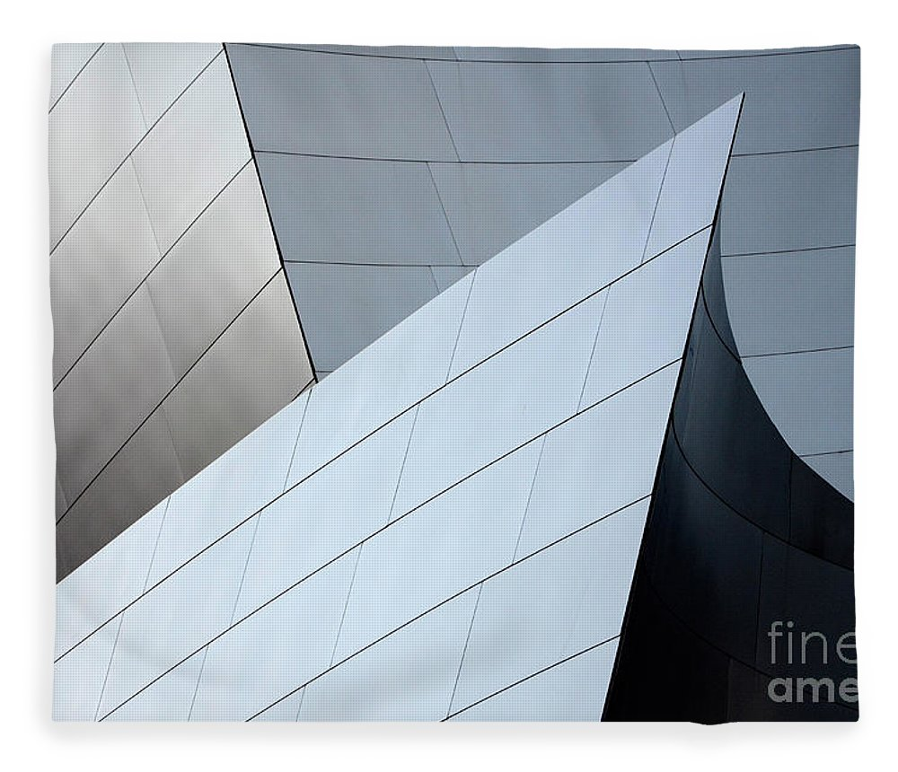Disney Fleece Blanket featuring the photograph Walt Disney Concert Hall 9 by Bob Christopher