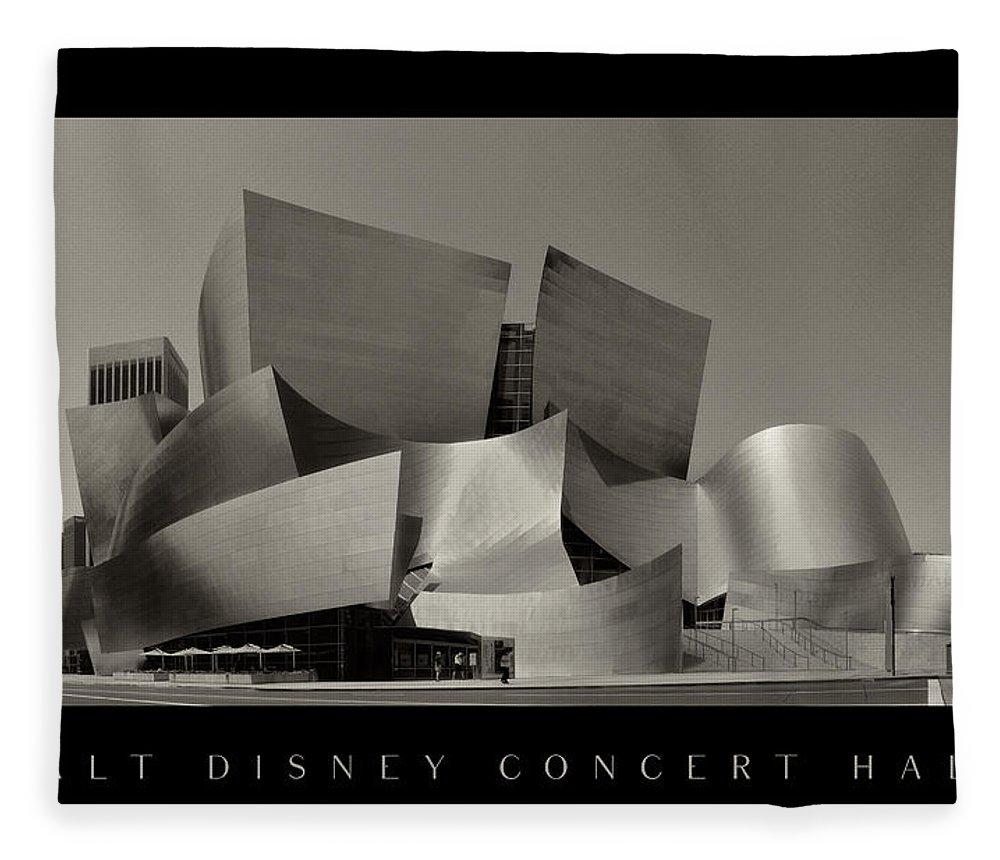 Walt Disney Concert Hall Fleece Blanket featuring the photograph Walt Disney Concert Hall by Stig Jonas Pettersson