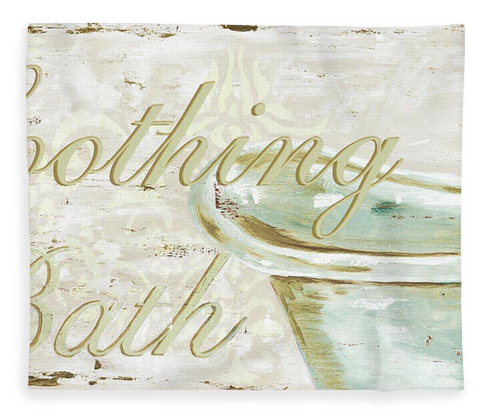 Bath Fleece Blanket featuring the painting Warm Bath 1 by Debbie DeWitt