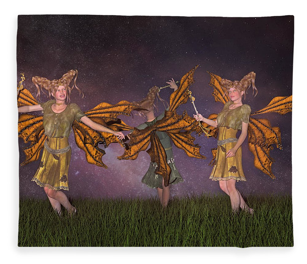 Fairy Fleece Blanket featuring the digital art Watching Over You by Betsy Knapp