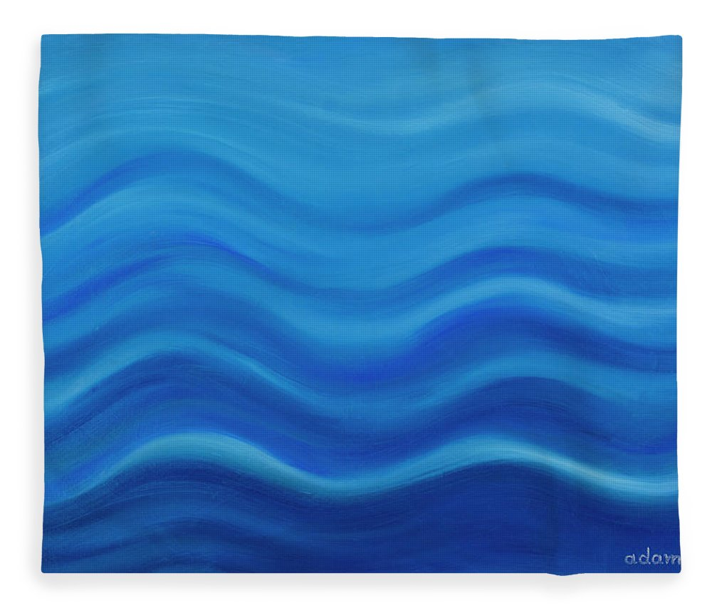 Water Fleece Blanket featuring the painting Water by Adamantini Feng shui