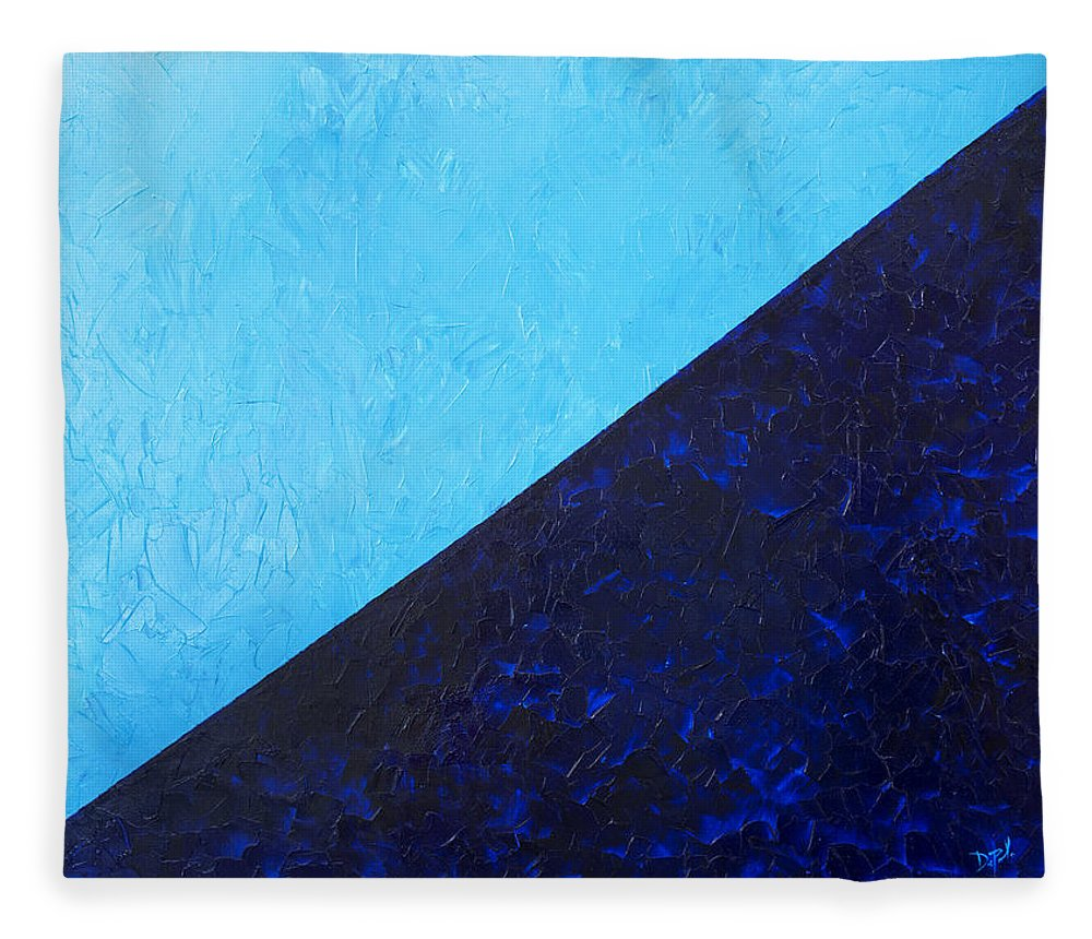 Impasto Fleece Blanket featuring the painting Water's Edge by JoAnn DePolo