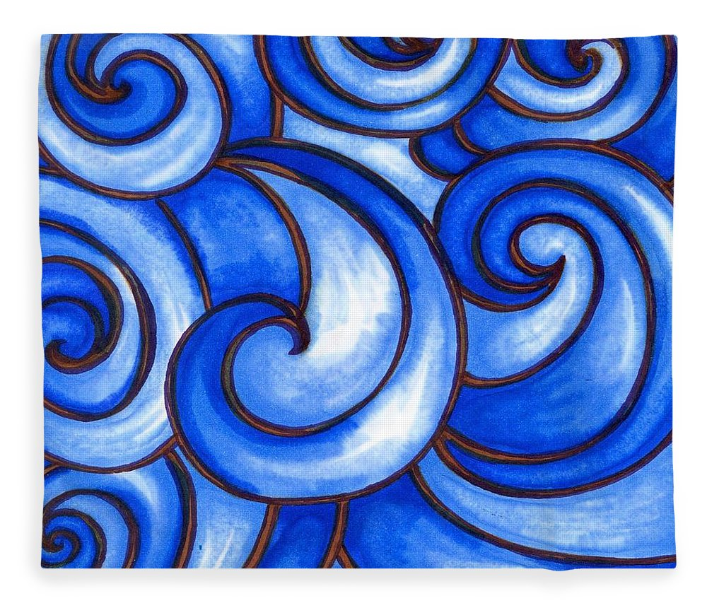 Water Fleece Blanket featuring the painting Waves of Mercy by Vonda Drees
