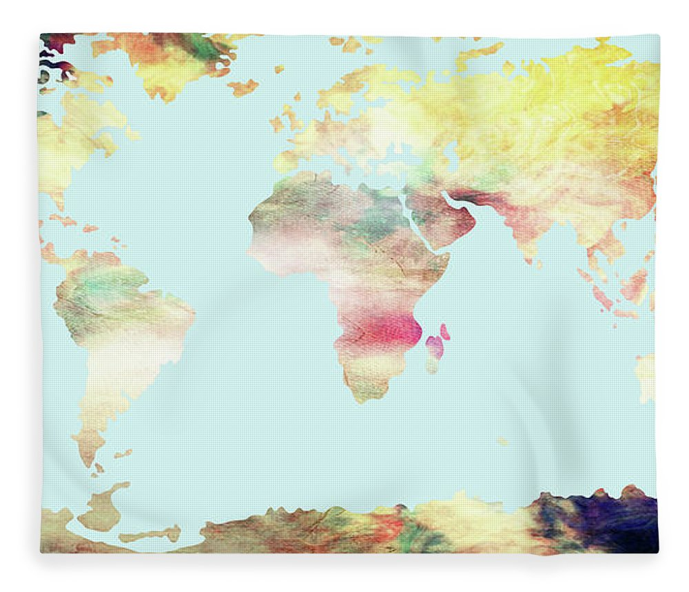 Wright Fleece Blanket featuring the digital art We Are All In This Together by Paulette B Wright