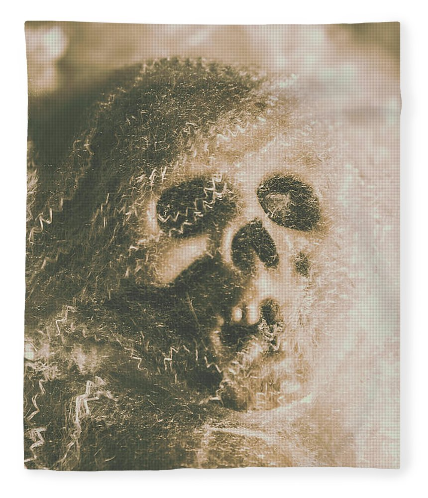Bone Fleece Blanket featuring the photograph Webs And Dead Heads by Jorgo Photography - Wall Art Gallery