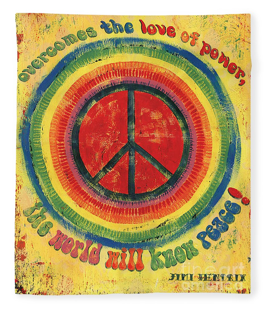 Love Fleece Blanket featuring the painting When the Power of Love by Debbie DeWitt