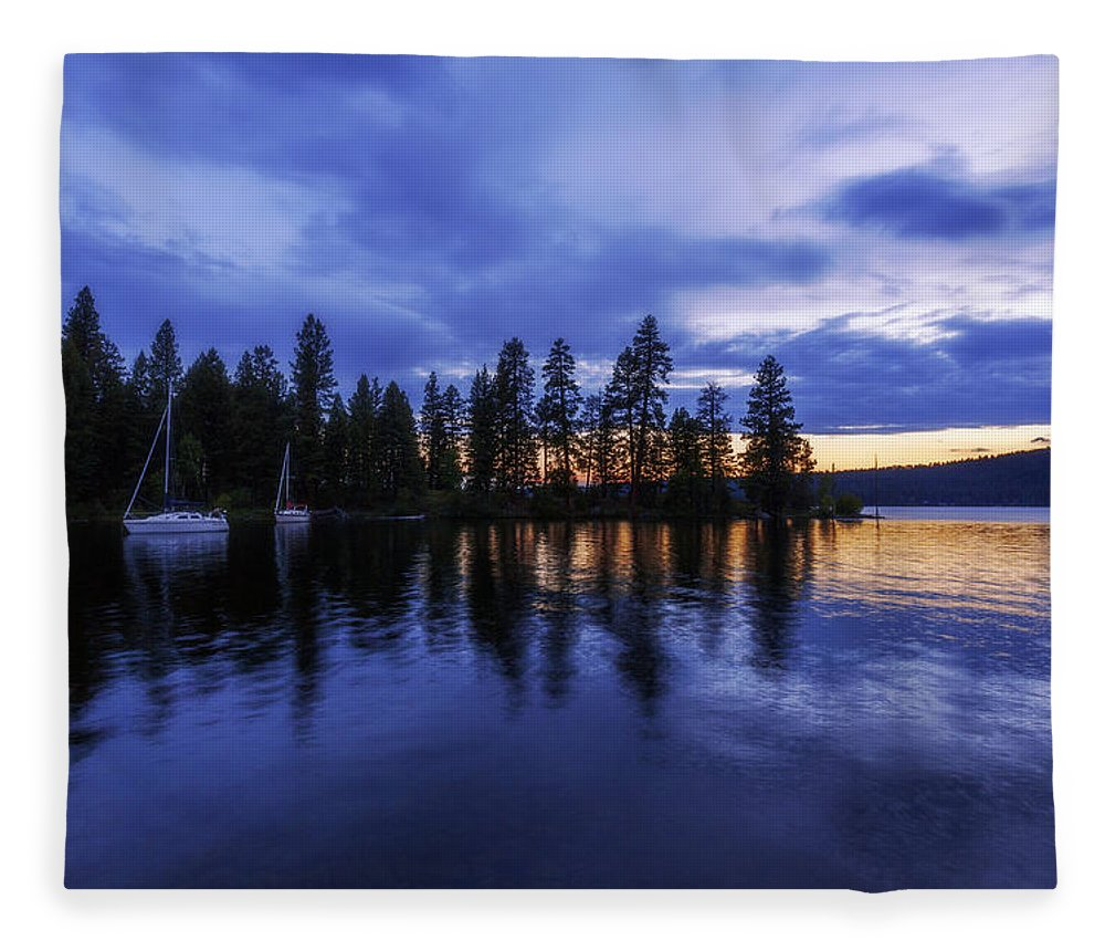 Where Are The Ducks Fleece Blanket featuring the photograph Where Are The Ducks? by Chad Dutson