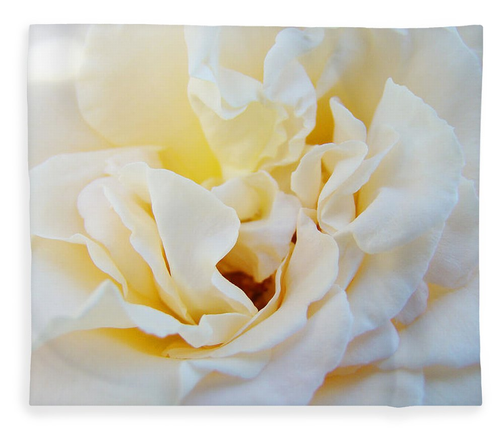 Rose Fleece Blanket featuring the photograph White Creamy Pastel Rose Flower Baslee Troutman by Patti Baslee