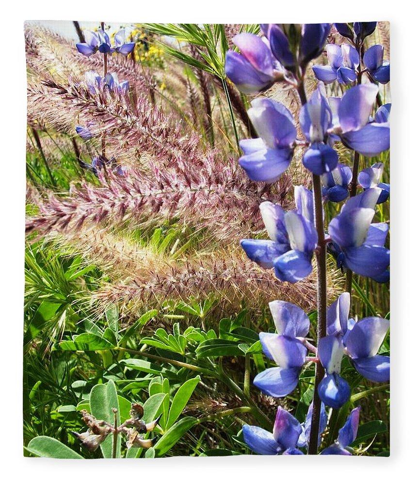 Flower Fleece Blanket featuring the photograph Wild Flower by Shari Chavira