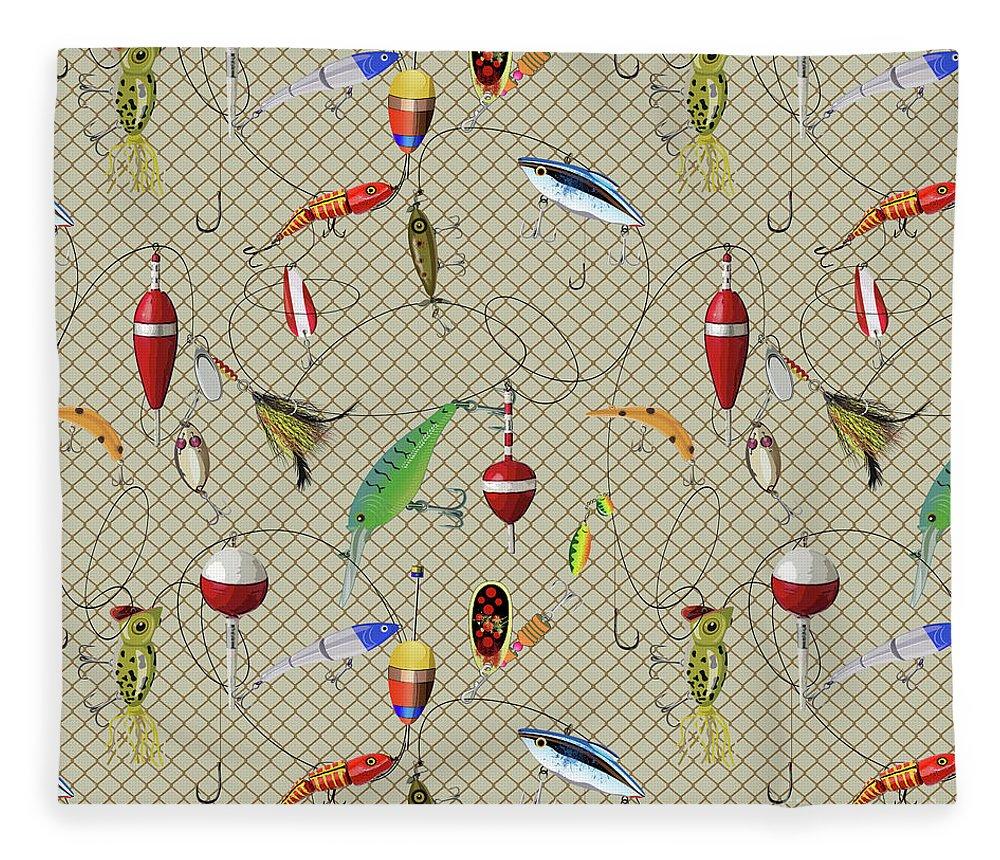 Lodge Fleece Blanket featuring the digital art Wilderness Lodge-j by Jean Plout