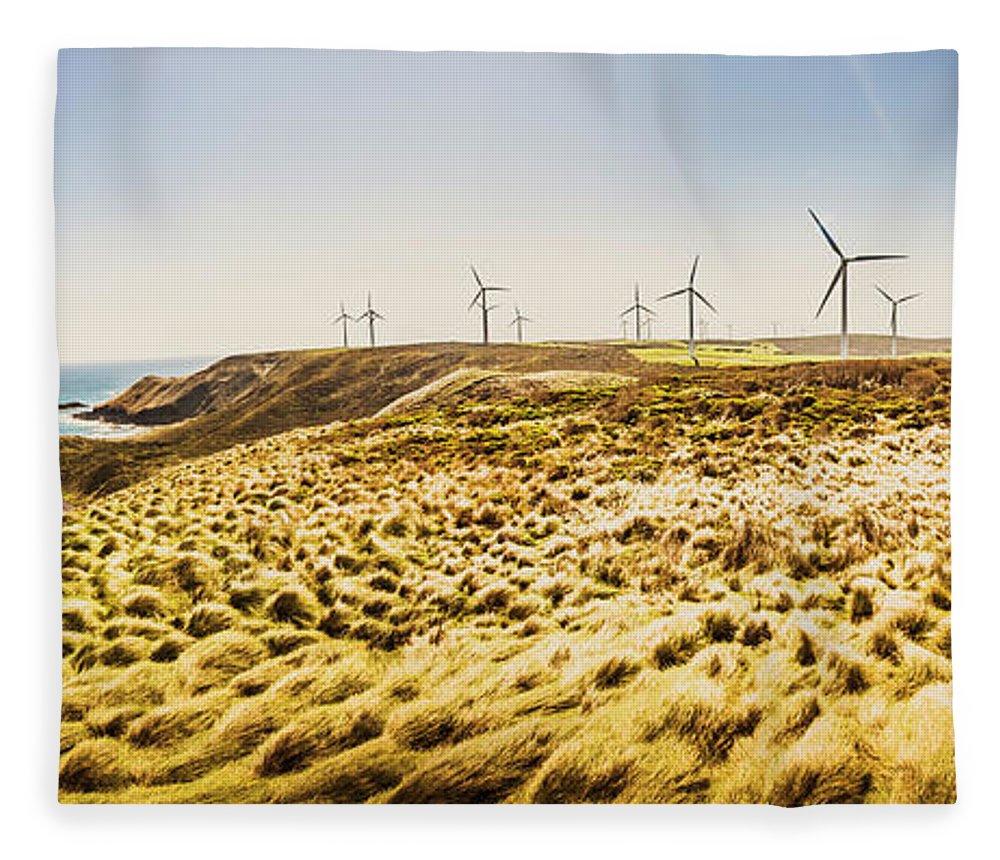Energy Fleece Blanket featuring the photograph Windswept Tasmania by Jorgo Photography - Wall Art Gallery