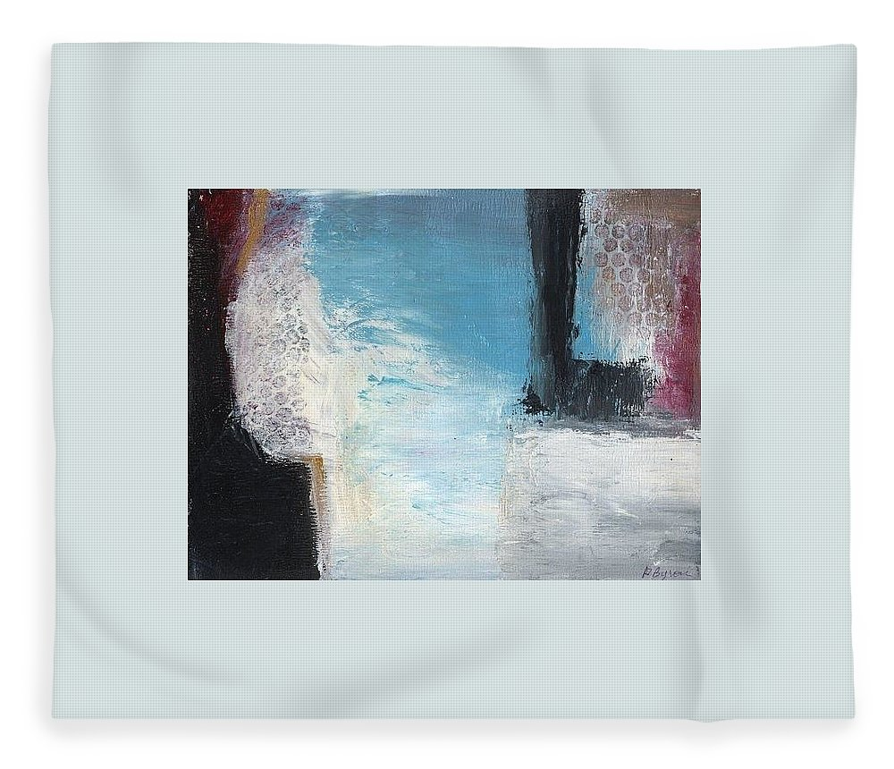 Abstract Fleece Blanket featuring the painting Winter of the Heart II by Patricia Byron