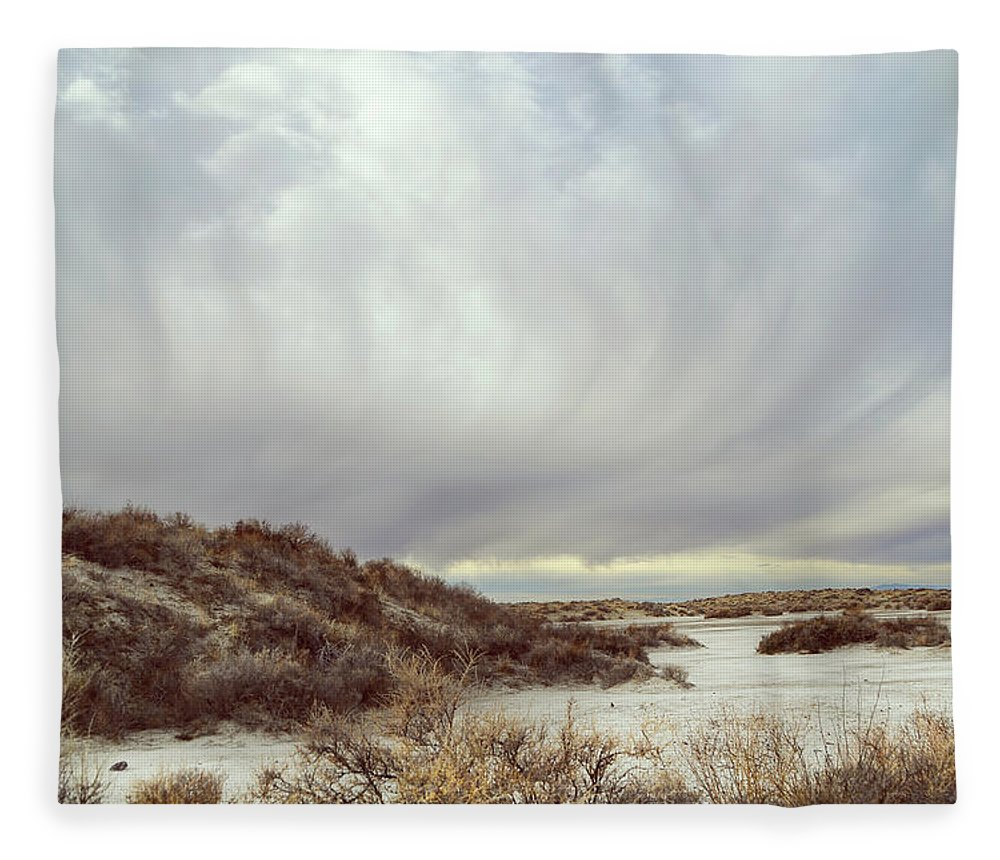 Landscapes Fleece Blanket featuring the photograph Winter Storm Clouds 2018-2289 by Karen W Meyer