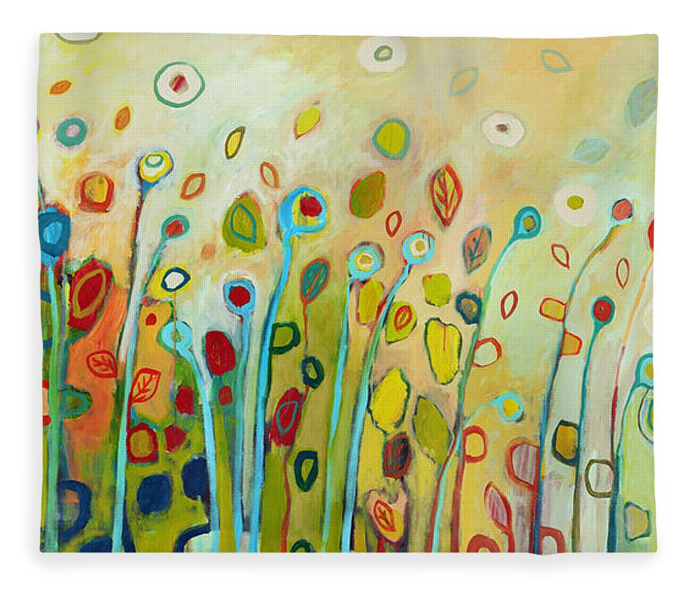Floral Fleece Blanket featuring the painting Within by Jennifer Lommers