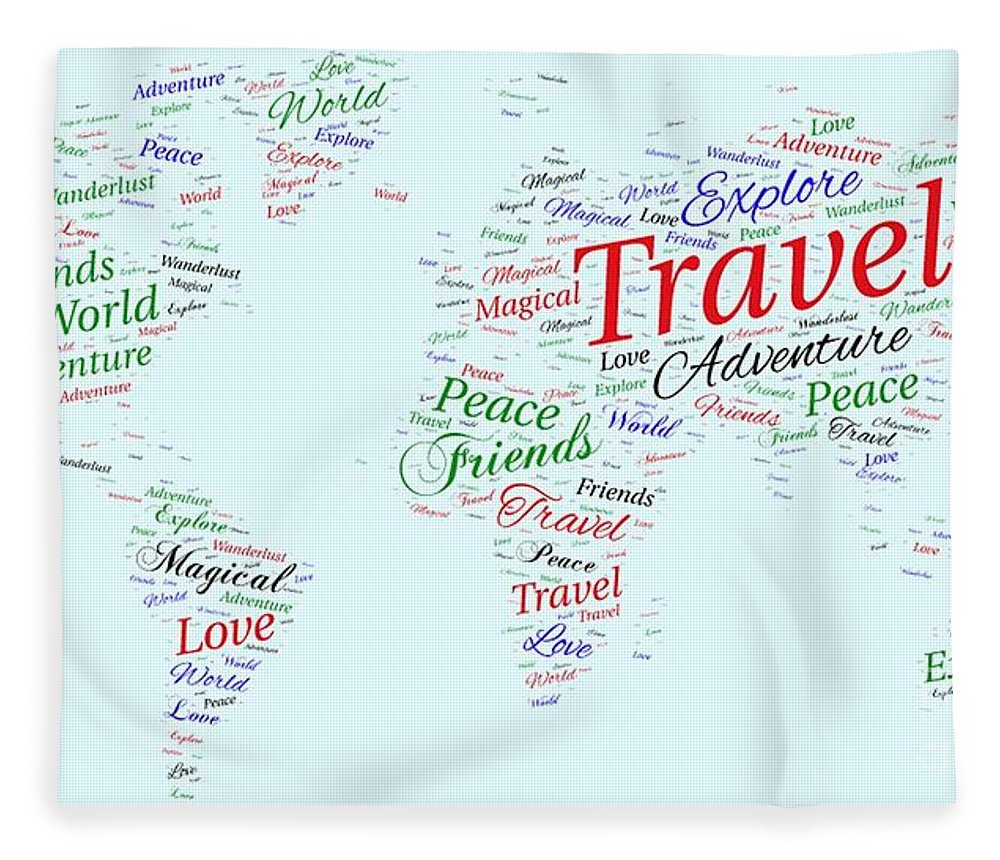 World map of word art word world clip art world wall sticker world world map word art fleece blanket for sale by traci law on word world clip art gumiabroncs Choice Image
