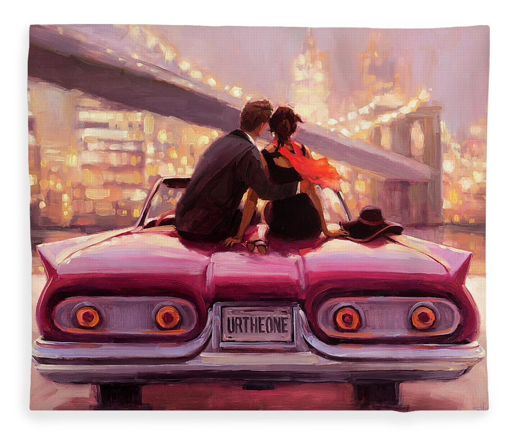 Love Fleece Blanket featuring the painting You Are the One by Steve Henderson