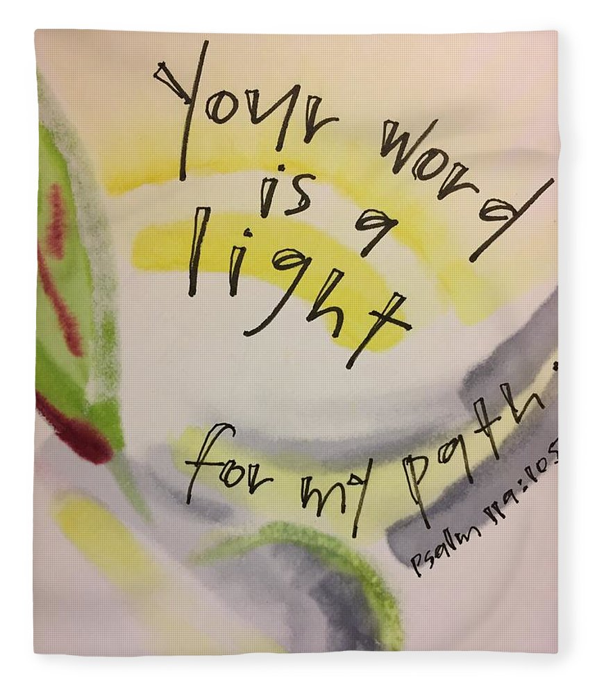 Light Fleece Blanket featuring the painting Your Word is a Light by Vonda Drees
