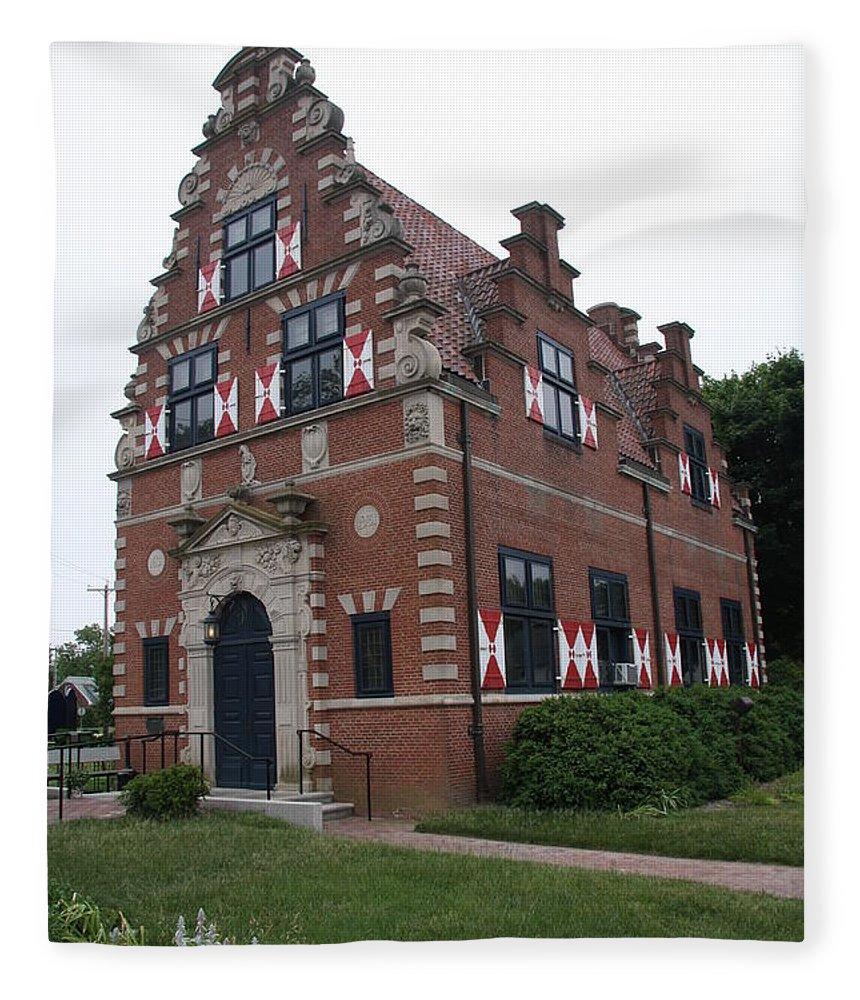 Dutch House Fleece Blanket featuring the photograph Zwaanendael Museum by Christiane Schulze Art And Photography