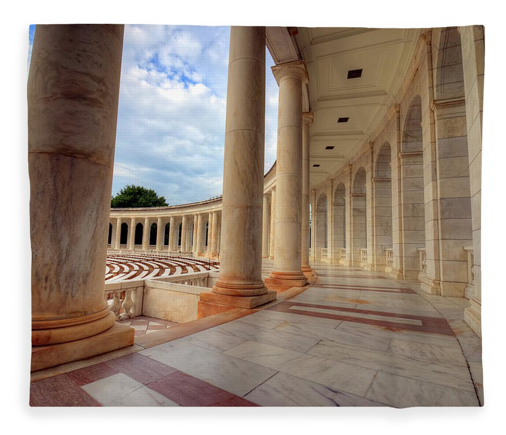 Craig Fildes Photography Fleece Blanket featuring the photograph Arlington National Cemetery Memorial Amphitheater by Craig Fildes