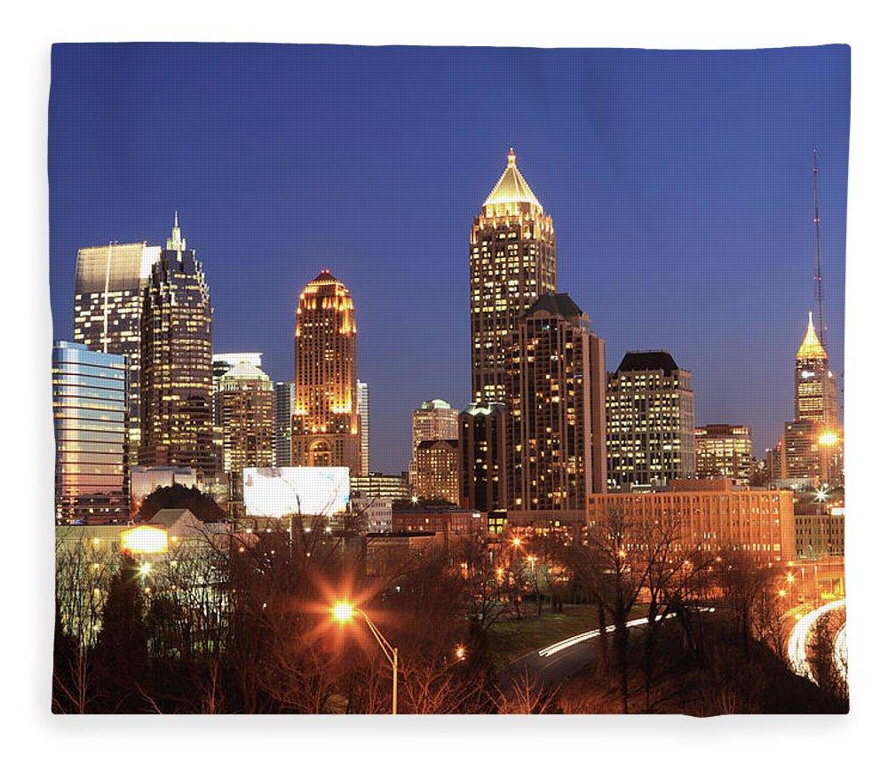 Atlanta Fleece Blanket featuring the photograph Atlanta, Georgia by Jumper