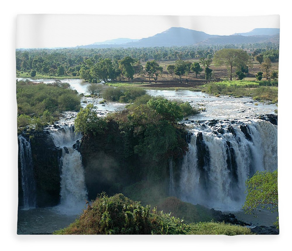 Blue Nile Fleece Blanket featuring the photograph Blue Nile Falls, Ethiopia by Christophe cerisier