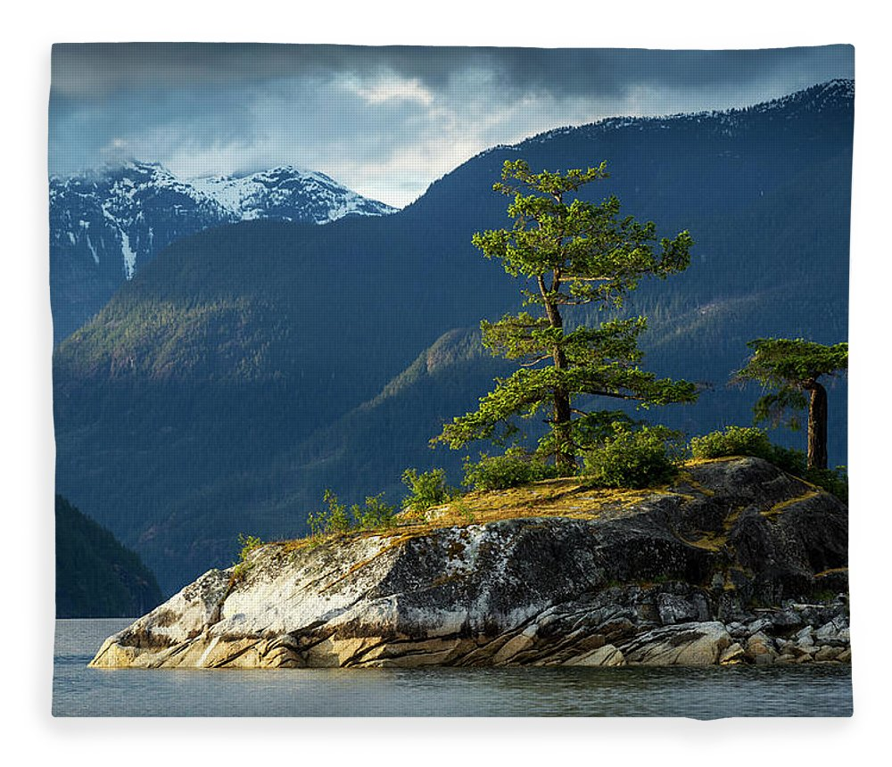 Scenics Fleece Blanket featuring the photograph Desolation Sound, Bc, Canada by Paul Souders