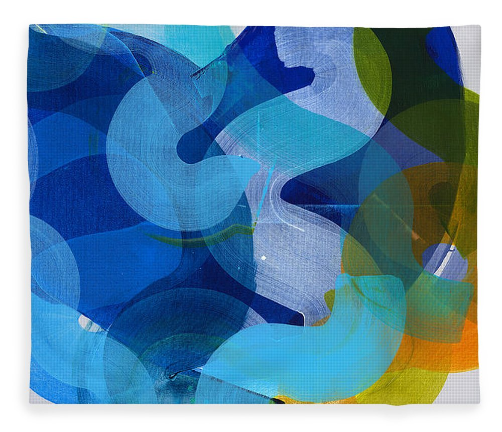 Abstract Fleece Blanket featuring the painting Don't Overthink by Claire Desjardins