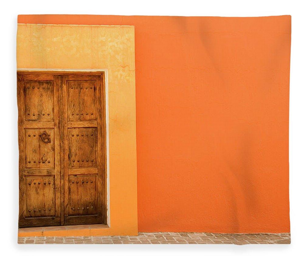 Hinge Fleece Blanket featuring the photograph Doorway by Livingimages