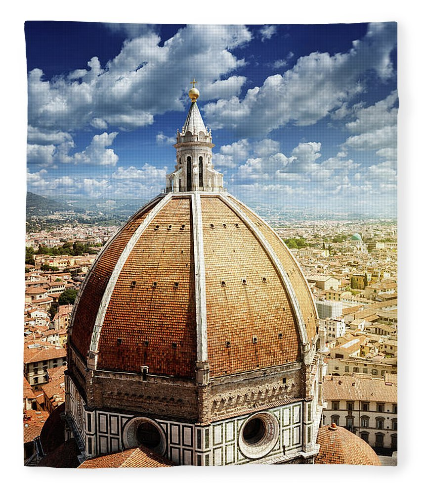 Scenics Fleece Blanket featuring the photograph Duomo In Florence by Da-kuk