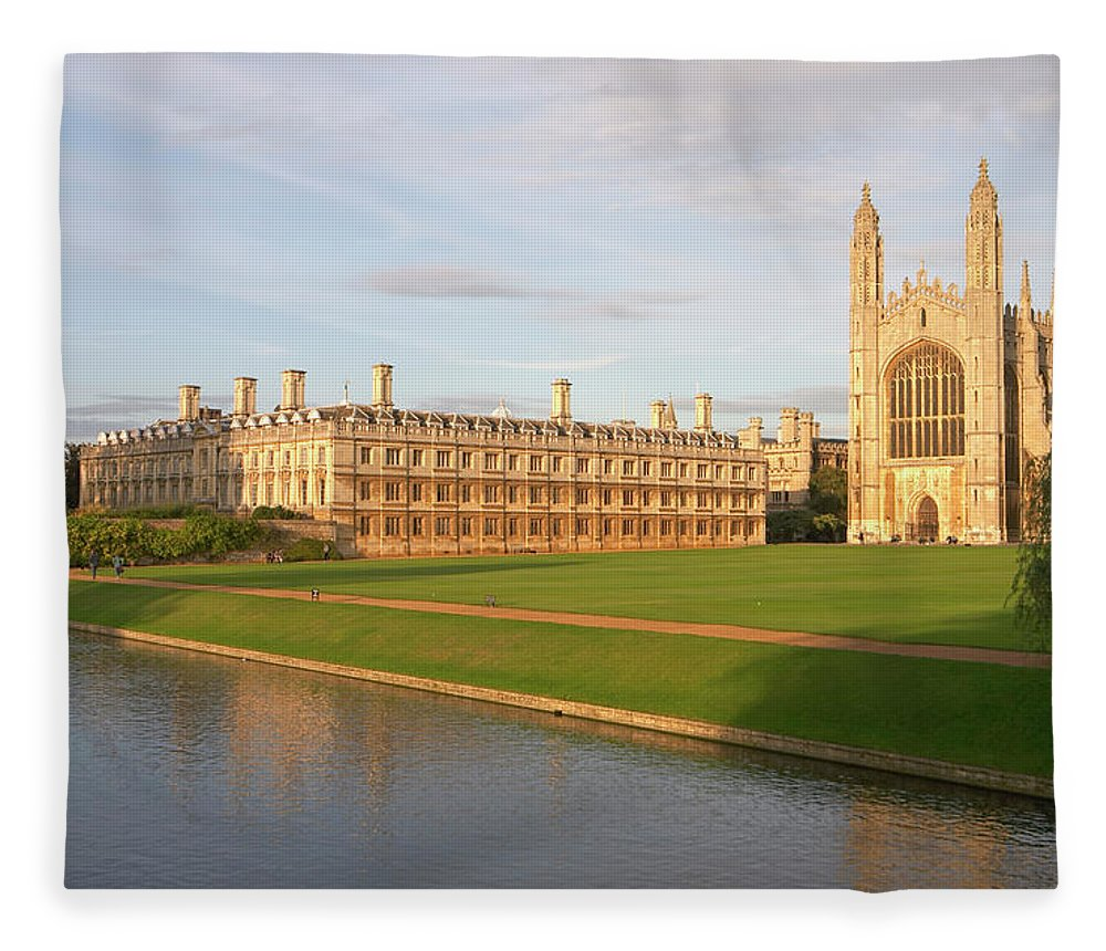 Shadow Fleece Blanket featuring the photograph England, Cambridge, Cambridge by Andrew Holt