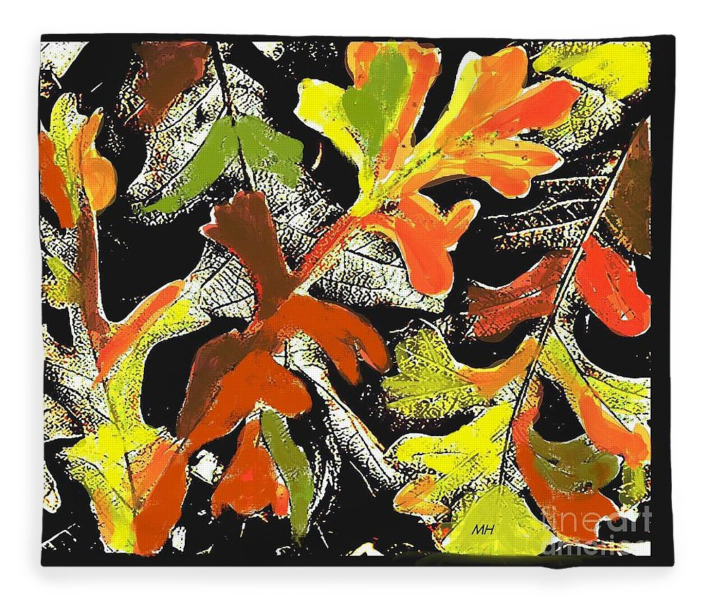 Photo Fleece Blanket featuring the photograph Fallen Leaves by Marsha Heiken