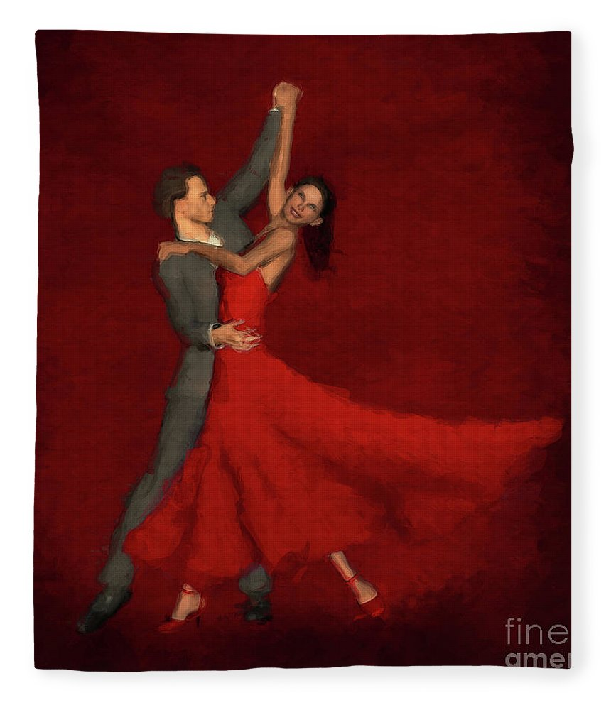 Foxtrot Fleece Blanket featuring the digital art Foxtrot by John Edwards