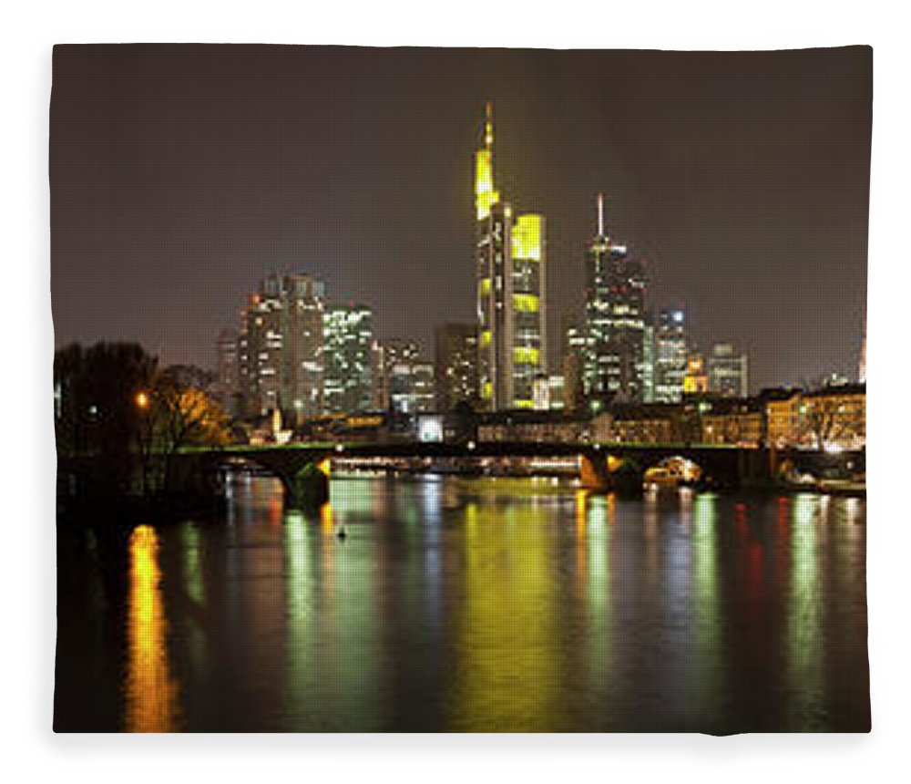 Panoramic Fleece Blanket featuring the photograph Germany, Frankfurt, View Of City At by Westend61