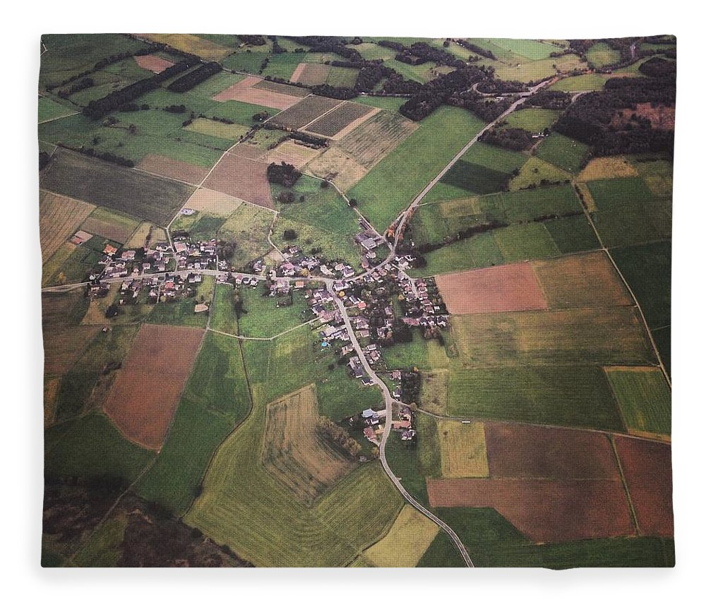 Tranquility Fleece Blanket featuring the photograph High Angle Aerial View Of Croatia by Yulia Reznikov
