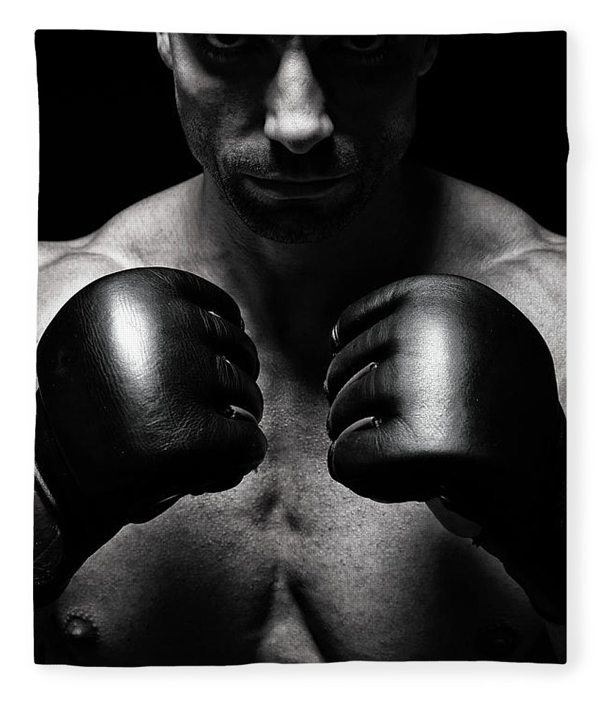 Toughness Fleece Blanket featuring the photograph Mma Fighter by Vuk8691