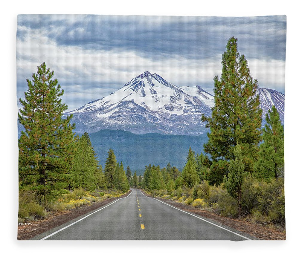 California Fleece Blanket featuring the photograph Mount Shasta by Jim Thompson