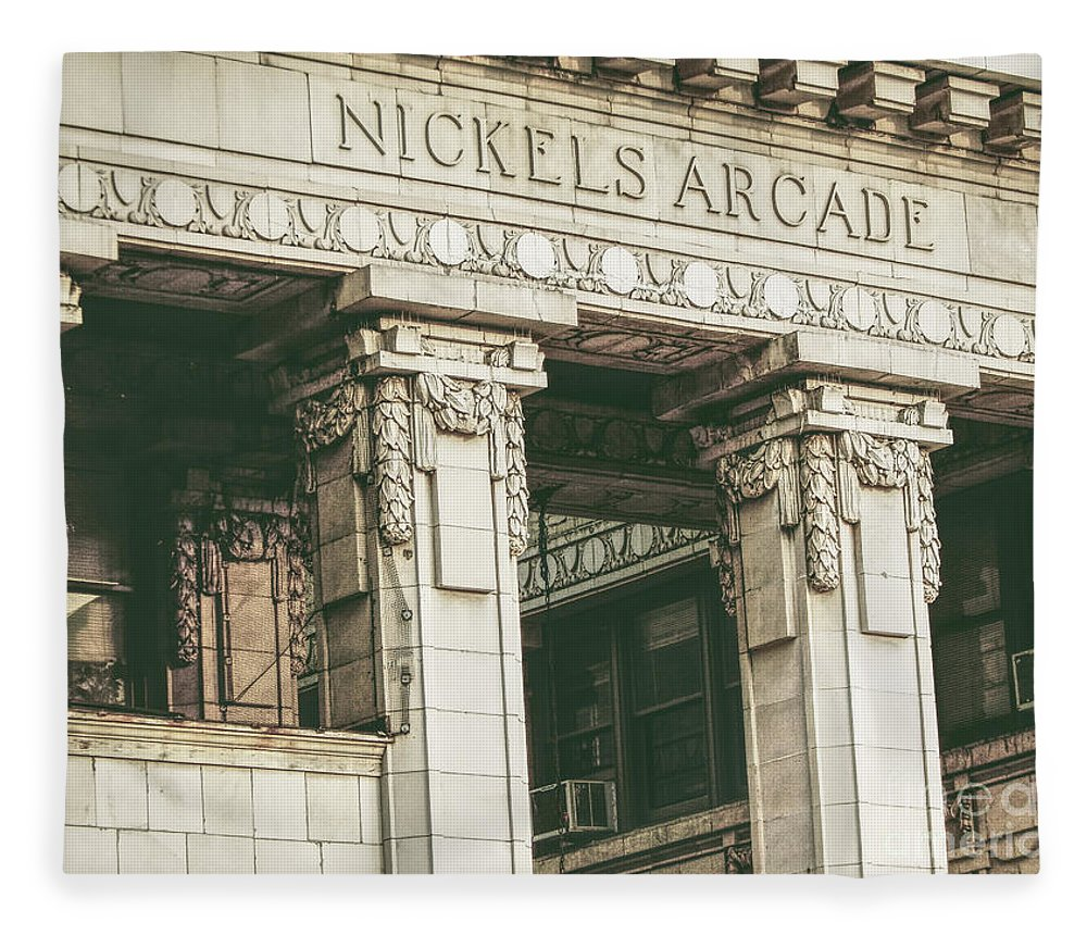 Nickels Arcade Fleece Blanket featuring the photograph Nickels Arcade by Phil Perkins